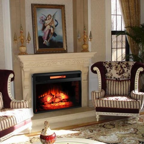 ZOKOP 26-inch 1500W Electric Fireplace Insert with Remote Control