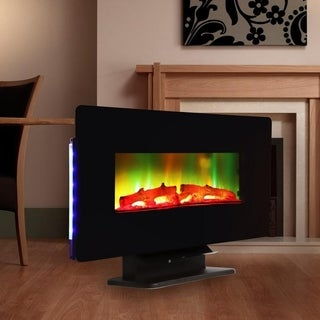 """36"""" Electric Fireplace Wall Mounted/Freestanding Heater with Remote Control36 Color CSA Approved"""