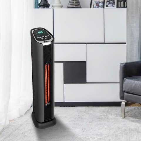 Patio Heater Space Heater Electic Infrared Heater w/Remote 750/1500W with Overheat Protection