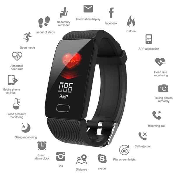 1.14inch Bluetooth Smart Watch Sports Watch IP67 Waterproof Heart Rate Monitor Fitness Tracker Wristband for IOS Android. Opens flyout.