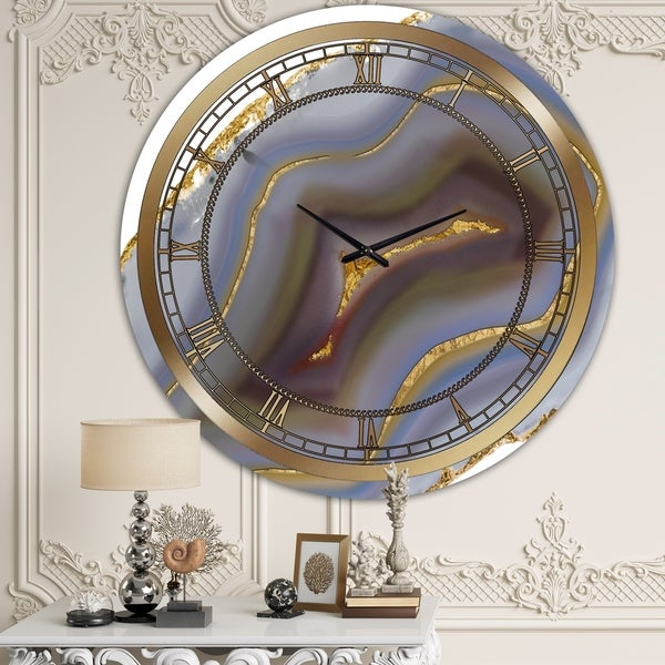 Silver Orchid Clayton 'Golden Core ' Large Fashion Wall Clock