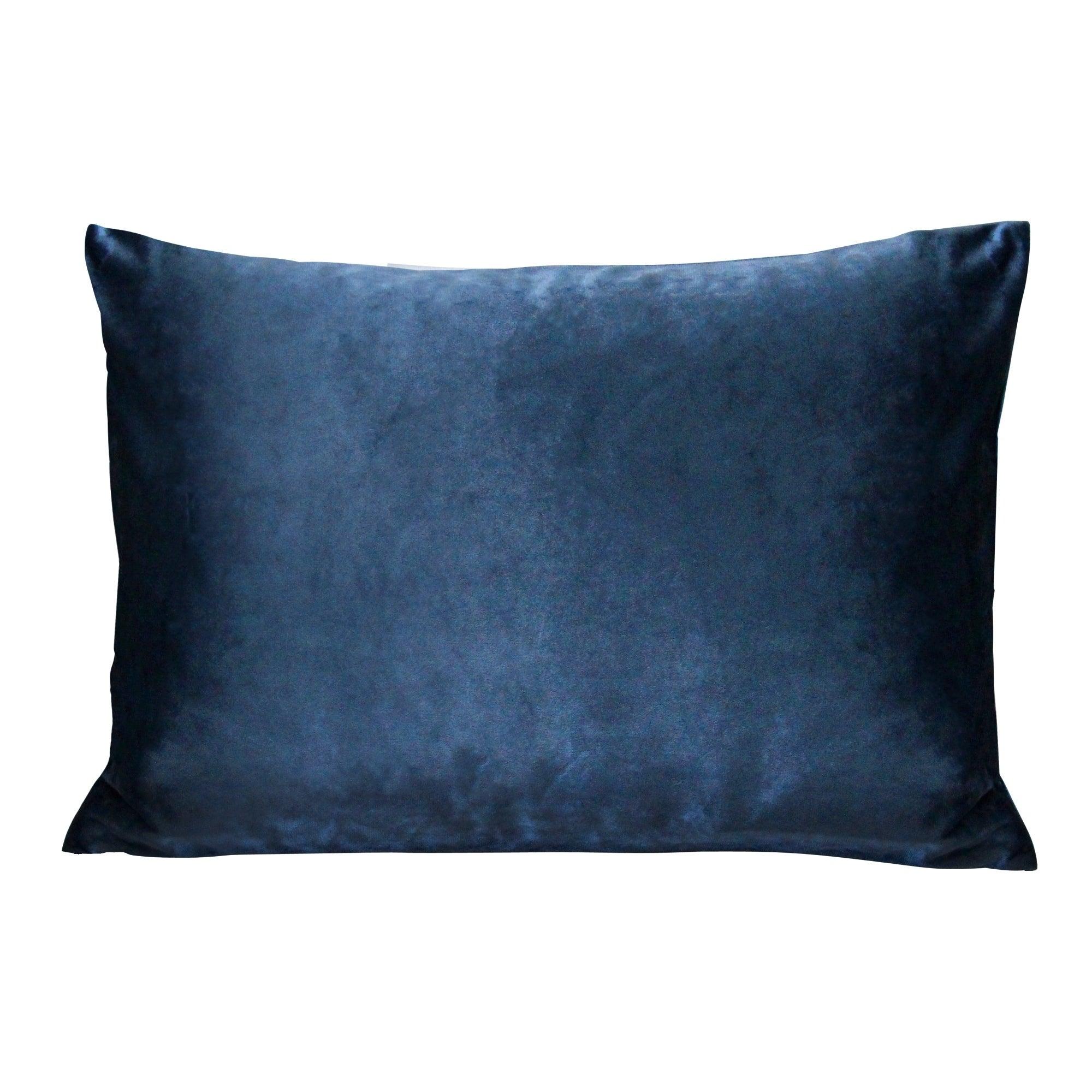 Stratton Home Decor Royal Blue Velvet Lumbar Pillow On Sale Overstock 30091606