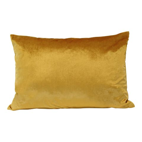 Carson Carrington Parakka Golden Velvet Lumbar Pillow