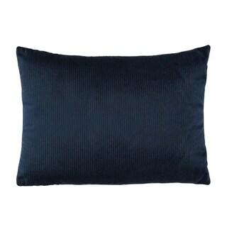 Stratton Home Decor Navy Blue Textured Velvet Lumbar Pillow