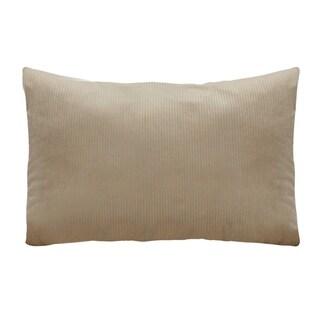Stratton Home Decor Tan Textured Velvet Lumbar Pillow