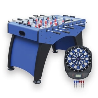 Link to Hathaway Ventura 55-in Foosball Table with Bonus Electronic Dart Board Similar Items in Billiards & Pool