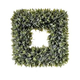 "Regency Square Artificial Flocked Sage Wreath 19"""