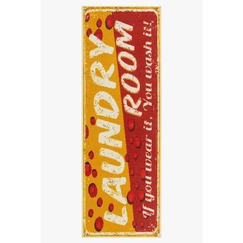 Tarpan Laundy Room Mat Non-Slip Runner Rug