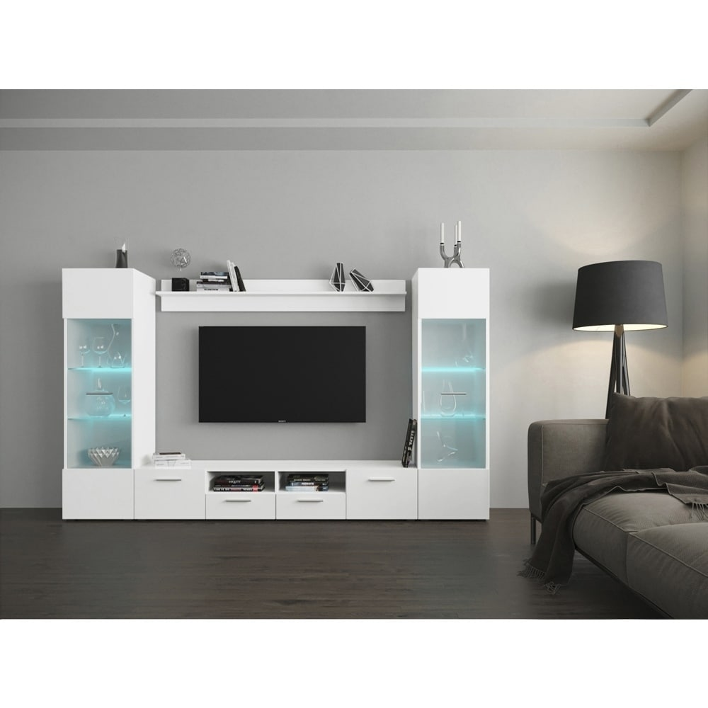 Wall Entertainment Center With Led