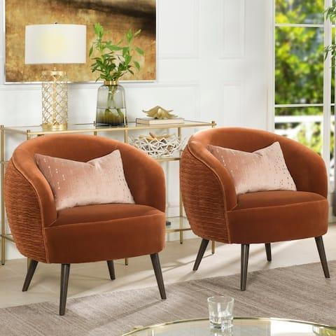 Carson Carrington Parkanas Mid-century Modern Barrel Chair
