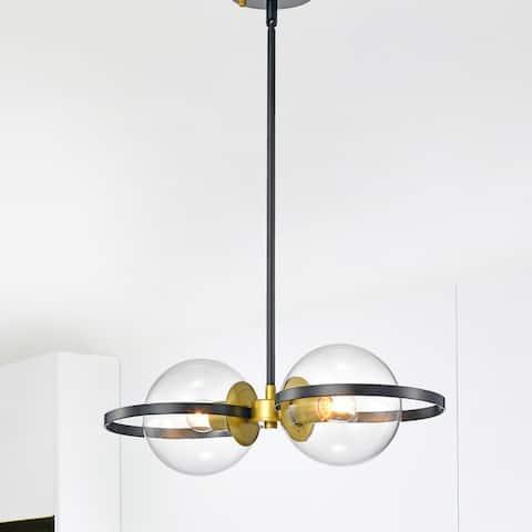 Carson Carrington Ygskorset 2-Light Black Pendant Lamp