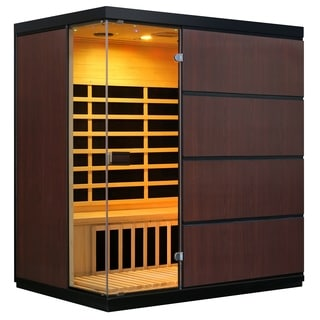 Sirona 4-Person Hemlock Infrared Sauna with 8 Carbon Heaters