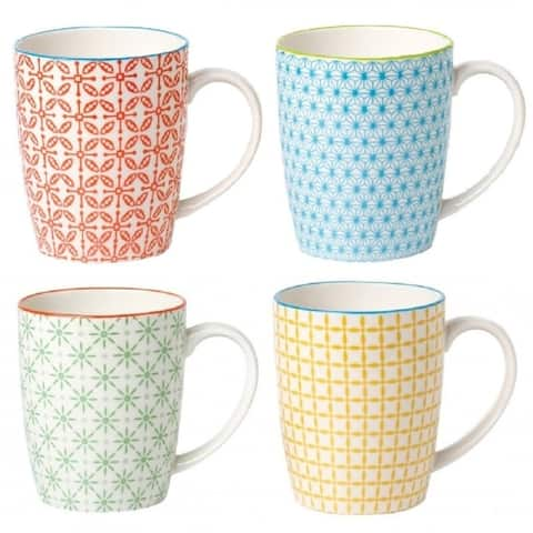 4 Piece Coffee Mug Set - Color