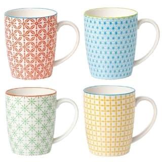 4 Piece Coffee Mug Set - Color