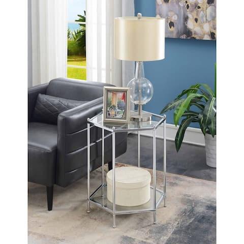 Silver Orchid Farrar Hexagonal Chrome End Table
