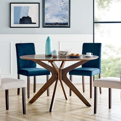 """Crossroads 47"""" Round Wood Dining Table"""