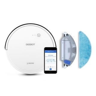 ECOVACS DEEBOT 600 Bundle with an Interchangeable Water Tank for Convertible Vacuuming or Mopping
