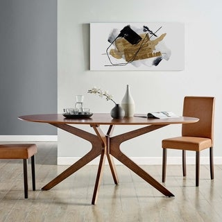 "Crossroads 71"" Oval Wood Dining Table"