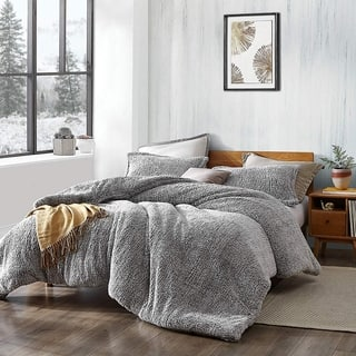 Coma Inducer Oversized Comforter - Two Tone - Plum Gray Kitten