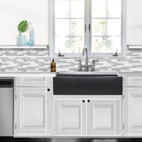 Highpoint Collection Reversible 36-inch Fireclay Farmsink Matte Dark Grey