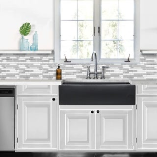 Link to Highpoint Collection Reversible 36-inch Fireclay Farmsink Matte Black Similar Items in Sinks