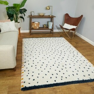 Moroccan Berber Dalmatian Shag Area Rug