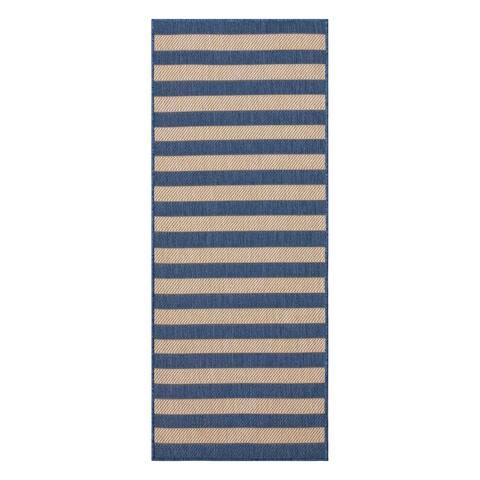 Ottomanson Jardin Striped Design Flat Weave Indoor/Outdoor Jute Runner or Area Rug