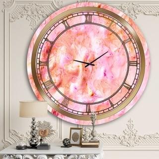 Designart 'Purple Marble' Glam Wall Clock