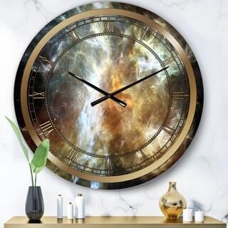 Designart 'Space Marble' Glam Wall Clock