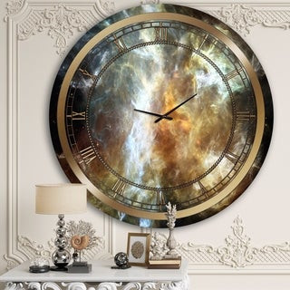 Designart 'Space Marble' Glam Wall Clock