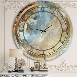 Designart 'Space Marble II' Glam Wall Clock