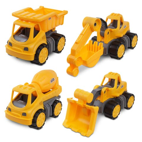 NKOK Earth Movers 4-Pack Small Construction Vehicles Playset