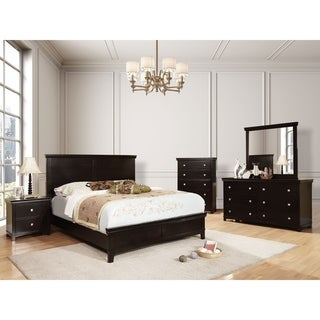 William's Home Furnishing Spruce Cal.King Bed in Espresso Finish