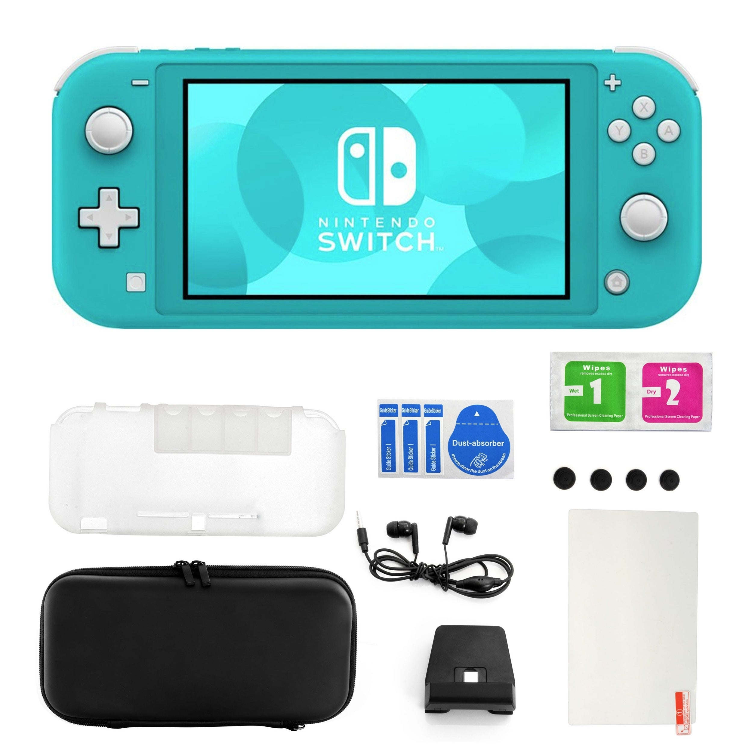 Shop Black Friday Deals On Nintendo Switch Lite In Turquoise With 11 In 1 Accessories Kit Overstock 30095499