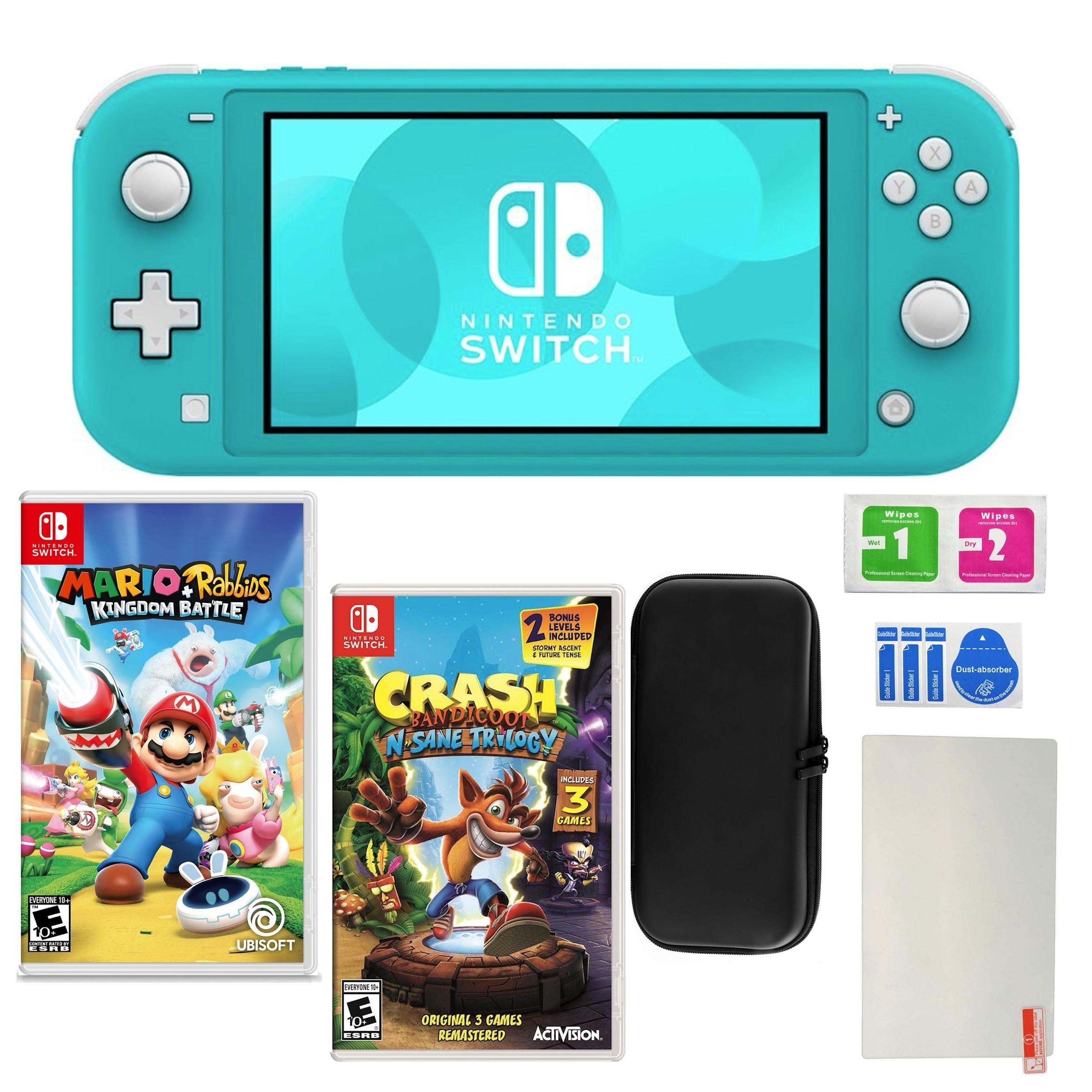 Nintendo Switch Lite Turquoise Crash Bandicoot Mario Rabbids Bundle N A