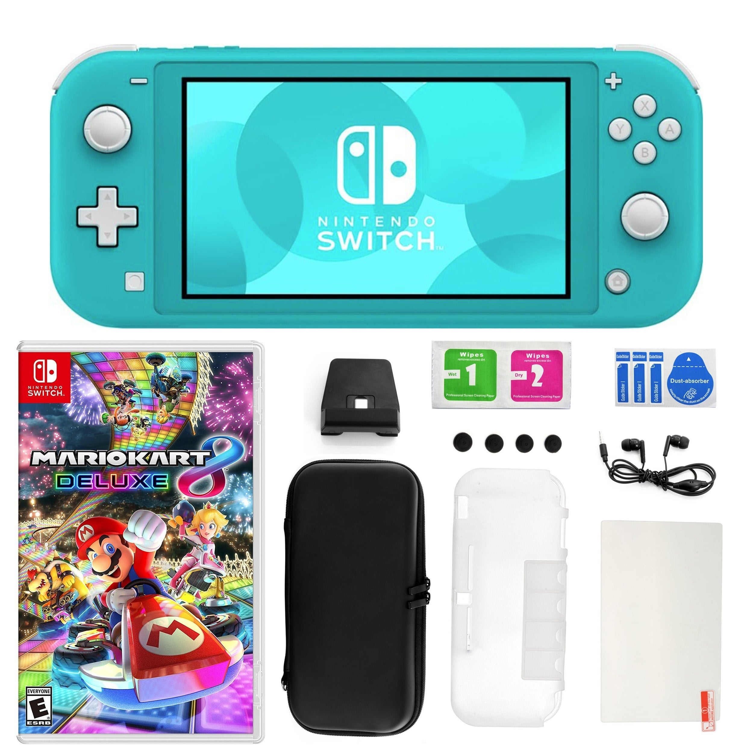 Nintendo Switch Lite Turquoise With Mario Kart 8 Deluxe Accessory Kit N A