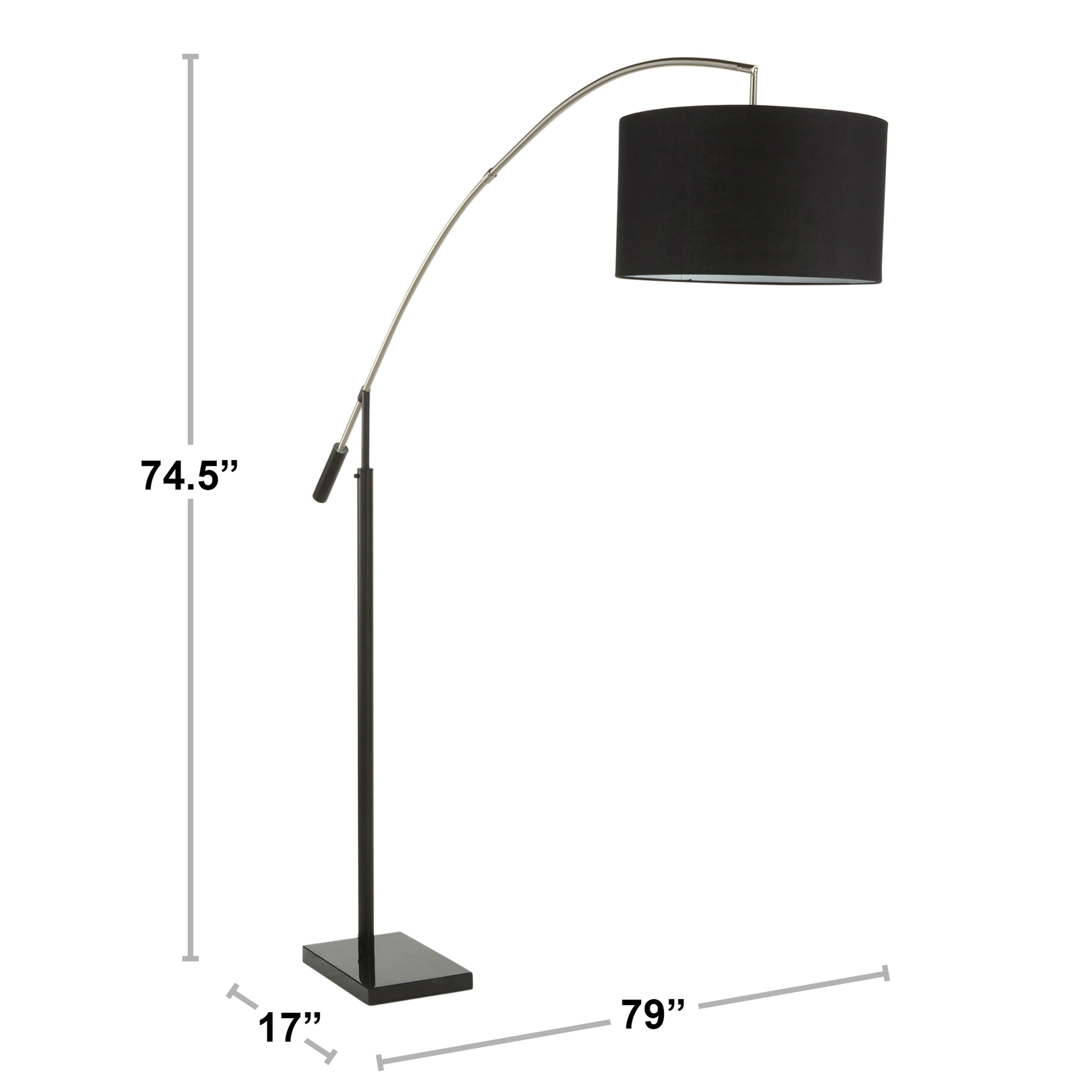 Shop Black Friday Deals On Milan Contemporary Floor Lamp In Black Marble Black Linen Walnut Accents N A Overstock 30095536