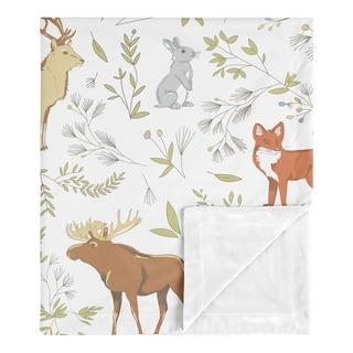 Link to Sweet Jojo Designs Bear Deer Fox Woodland Animal Toile Boy Girl Baby Receiving Security Swaddle Blanket - Grey Green Brown Similar Items in Baby Blankets