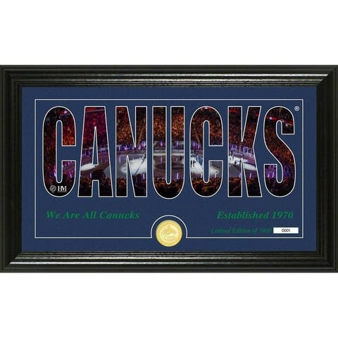 Vancouver Canucks Silhouette Panoramic Bronze Coin Photo Mint
