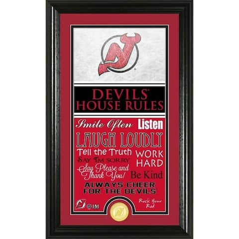 New Jersey Devils House Rules Supreme Bronze Coin Photo Mint