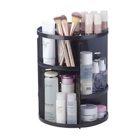 Coutlet Rotating Cosmetic Storage Tower Makeup Organizer Jewelry Storage Display Rack Rotary Storage Box