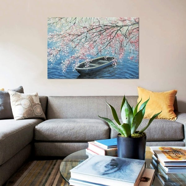 """iCanvas """"Cherry Blossoms"""" by ColorByFeliks Gallery-Wrapped Canvas Print"""