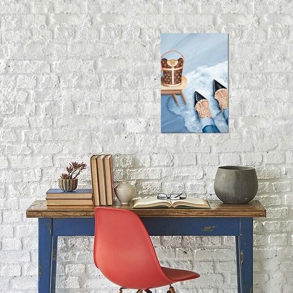 "iCanvas ""Louis Vuitton Monogram Bag & Valentino Heels"" by CeCe Guidi Gallery-Wrapped Canvas Print"
