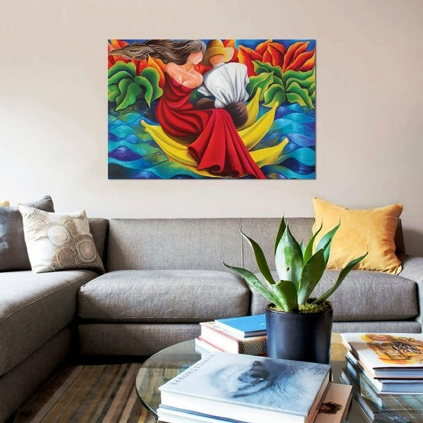 """iCanvas """"Sailing On Bananas"""" by Dixie Miguez Gallery-Wrapped Canvas Print"""