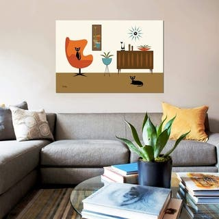 """iCanvas """"Mid Century Room Mini Gravel Art"""" by Donna Mibus Gallery-Wrapped Canvas Print"""