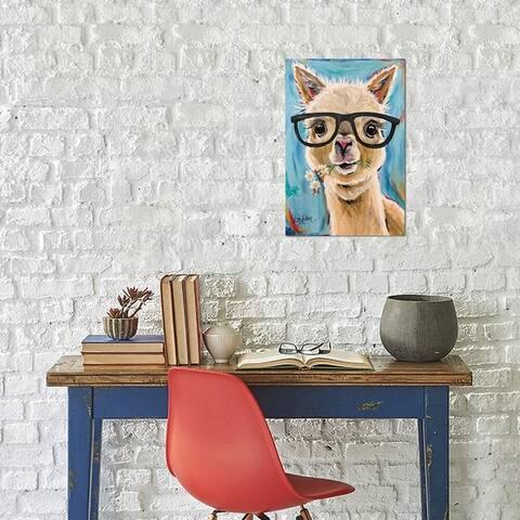 "iCanvas ""Alpaca Glasses "" by Hippie Hound Studios Gallery-Wrapped Canvas Print"