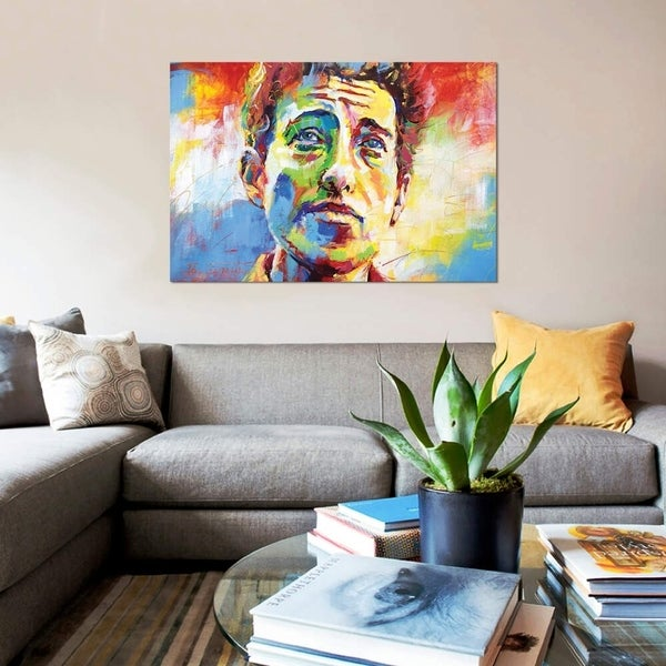 """iCanvas """"Bob Dylan"""" by Jos Coufreur Gallery-Wrapped Canvas Print"""
