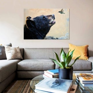Porch & Den JW Baker 'The Bear And The Hummingbird' Wrapped Canvas