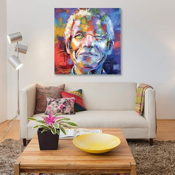 "iCanvas ""Nelson Mandela"" by Jos Coufreur Gallery-Wrapped Canvas Print"