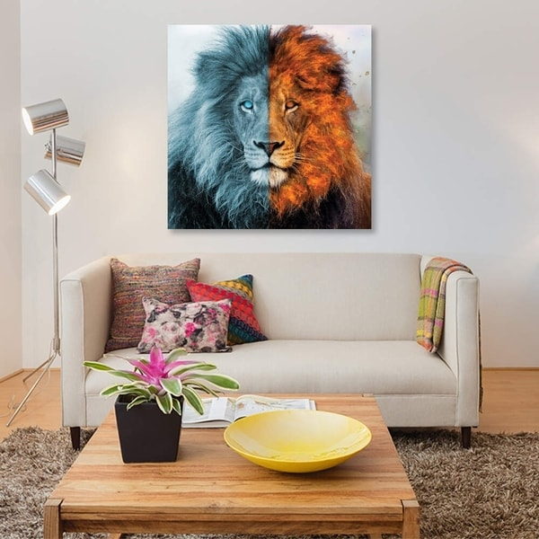 """iCanvas """"Aslan"""" by Paul Haag Gallery-Wrapped Canvas Print"""